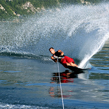 Water skiing on the Lac d'Annecy