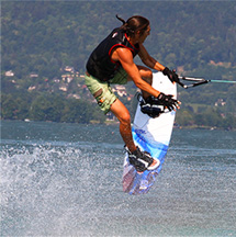 Wakeboard on the Lac d'Annecy