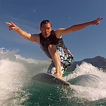 Wakesurf on the Lac d'Annecy
